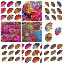 Indian Handmade Cotton Umbrella Bohemian Boho Decore Sun Umbrella Ethinc... - $230.29
