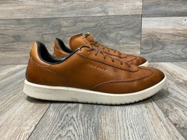 Cole Haan GrandPro Turf Leather Sneaker In Brown | Size 8 | C30591 - $69.30