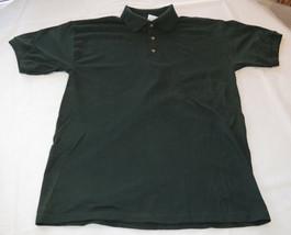 Gildan Activewear Ultrablend Heavyweight adult M med mens Green polo shirt NOS - $13.36