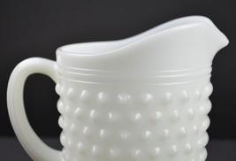 "Vintage Anchor Hocking Hobnail Milk Glass Pattern Pint Pitcher 4.75"" Tal... - $15.99"