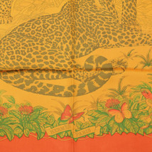 Auth Hermes Scarf JUNGLE LOVE 90cm Silk SURTEINT DIP DYE Foulard - $359.95