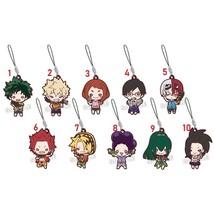 Anime My Hero Academia Boku no Hero Akademia Keychain Key Ring Rubber Strap - $6.82+