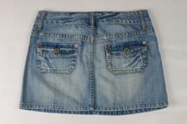 AMERICAN EAGLE Flap Pockets distressed denim jean skirt Size 0 - $9.89