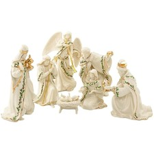Lenox Holiday Miniature Nativity Set Figurines 7 Piece Holy Family Kings... - $94.94