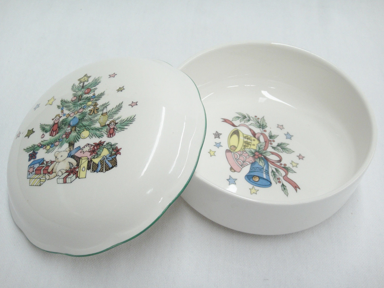 ... Nikko Christmas Tree Covered Candy Dish Trinket Box 5  Porcelain Excellent ... & Nikko Christmas Tree Covered Candy Dish and 11 similar items