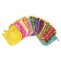 Honbay 16PCS Silk Brocade Drawstring Jewelry Pouches Coin Purses Gift Bags image 5