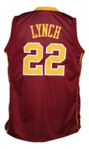 Reggie Lynch #22 College Basketball Jersey Sewn Maroon Any Size image 2