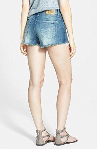 Lee Cooper Distressed Denim Shorts - Indigo Stressed - 27