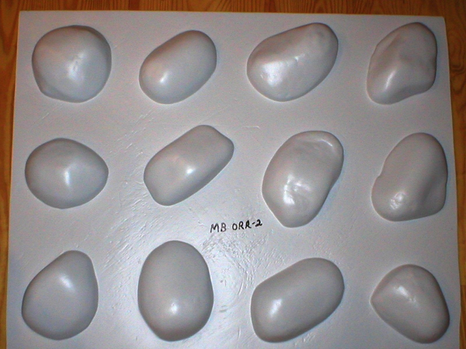 #OOR-05 River Rock Molds 12 Make 100s of Cement Stones For Walls For Pennies Ea.