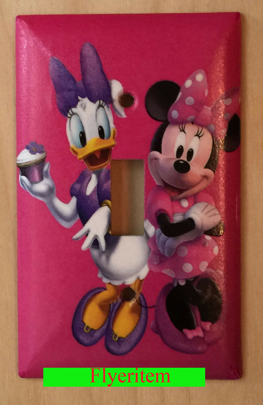 Minnie Mouse Daisy Cup Cake Light Switch Power Outlet Wall Cover Plate decor