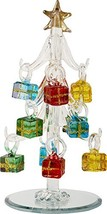 LSArts Glass Christmas Tree with Ornaments, Clear, 6 Inch, Gift Box - $15.87