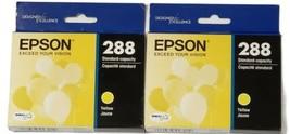 Original Epson 288 Standard Capacity Yellow Ink Cartridge EXP 2023 Lot Of 2 New - $19.79