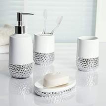Allure White/Silver Bath Coordinates - 3 Piece Set - Titus - $24.75