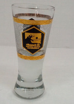 vintage souvenir tall  shot glass the mammoth site Hot Springs South Dakota - $14.85