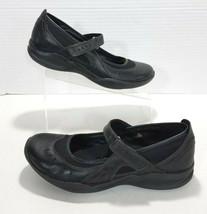 Clarks Wave Cruise Hook & Loop Leather Mary Jane Shoes Womens 9.5N Black... - €25,96 EUR