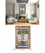 BEAUTIFUL LARGE INDIAN ART PICHWAI PAINTING TRADITIONAL GOPASHTAMI RELIG... - $1,271.69