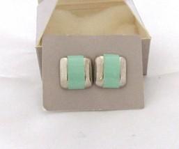 E170) Vtg 1986 Avon ST City Sleek Pierced Earrings w/ SS Posts - Seaessence - $3.79