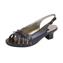 PEERAGE Celeste Women Wide Width OpenToe Slingback Sandal with Straps/Bow Design - $44.95