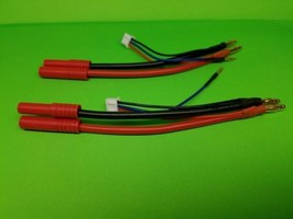 REDCAT RACING 2 PACK 4mm Bullet to HXT LiPo Battery Harness 2S  GENS ACE... - $11.64