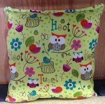 Owl Pillow Owls Hoot Pillow Cartoon Pillow Handmade in USA - $9.99