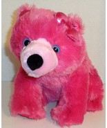 "GIRLZ NATION AURORA WORLD PINK POLAR BEAR WITH BOW 11"" PLUSH ANIMAL DOLL... - $9.99"