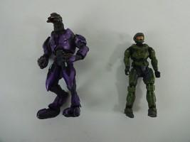 Halo Purple Armor Ultra Elite Action Figure + Green Armor Spartan Fig Mc... - $21.78