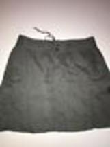 Ann Taylor Loft Womens Large Green 100% Linen Skirt Size 6 Drawstrings P... - $14.24