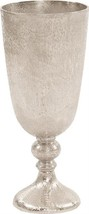 Vase Howard Elliott Chalice Large Bright Silver Textured - $249.00