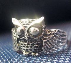 NICE 2727 Owl Full body sterling silver ring jewelry bird - $21.01