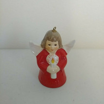 Goebel Annual Angel Bell Ornament 1988 Candle RED West Germany Vintage S... - $29.02