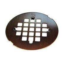 """Westbrass 4-1/4"""" OD Casper Brass Snap-In Shower Strainer Grid, Antique B... - $15.68"""