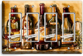 VINTAGE TUSCAN WINE BOTTLES COLLECTION LIGHT SWITCH OUTLET PLATES KITCHEN DECOR image 15