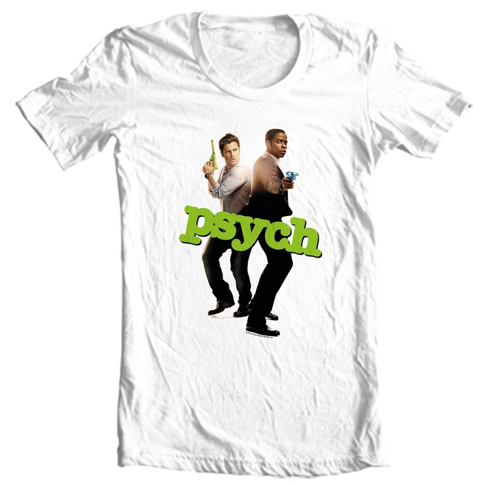 Psych t shirt tv show pop culture for sale online graphic tee store white