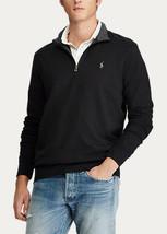 Polo Ralph Lauren Luxury Jersey Quarter-Zip Pullover Black-Size 2XL - $55.19