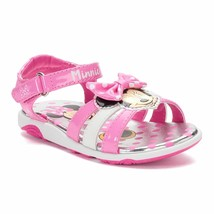 NEW Baby/Toddler Girls Disney Minnie Mouse Light Up Sandals Size 5 6 7 8... - $21.99