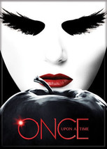Once Upon A Time TV Series Black Swan Face Above Apple Refrigerator Magn... - $3.99