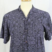 Hilo Hattie Aloha Hawaiian Blue Floral Short Sleeve Button-Front Shirt S... - $23.38