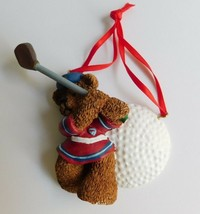 "Kurt Adler Golf Ball Golfing Bear Christmas Ornament 4"" - $10.12"