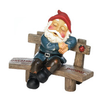 Gnomes, The Stone Squatting Art Garden Gnomes Funny Statue - $36.18