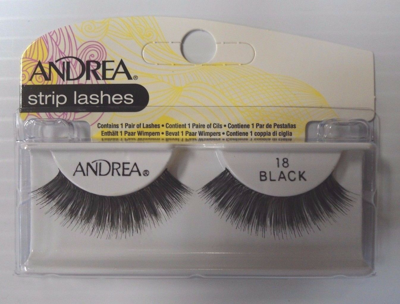 Primary image for Andrea's Strip Lashes Fashion Eye Lash Style 18 Black - (Pack of 6)