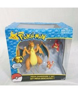 NEW Pokemon Mega Charizard Y Exclusive Figure 3-Pack Set Charmander & Ch... - $59.35