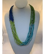 "Vintage 26""-29"" 10 Strand Beaded Necklace (1820) - $15.00"
