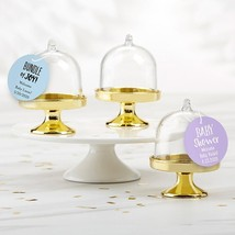 Personalized Small Bell Jar with Gold Base - Baby Shower (Set of 12)  - $21.99