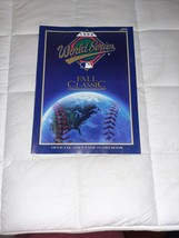 1992 World Series Fall Classic Official Souvenir Scorebook Blue Jays vs.... - $6.79