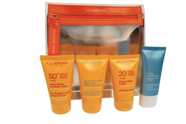 Clarins Sun Beautiful Summer Essentials Kit 4 Piece Set - $75.76