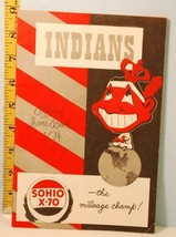 1949 Cleveland Indians Baseball Program v NY Yankees Unscored SOHIO X70 ... - $9.89