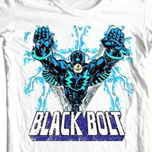 Black bolt comic book superhero retro white cotton tshirt for sale online graphic tee thumb200