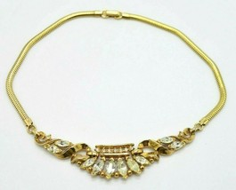 TRIFARI Patent Pending Clear Rhinestone Phillipe Gold Tone Choker Necklace - $74.25
