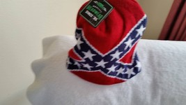 Civil War battle flag on a knit beanie with tags by  Cap Smith Inc - $12.00