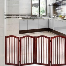 "4 Panels Folding Freestanding Wood Pet Dog Safety Gate-36"" - $122.02"